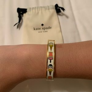 Kate Spade 'what's the scoop' hinged idiom bangle